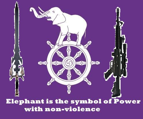 elephant dhamm chakra