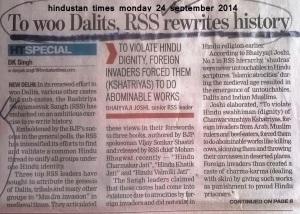dalit bhangi  and khateek history rewritten