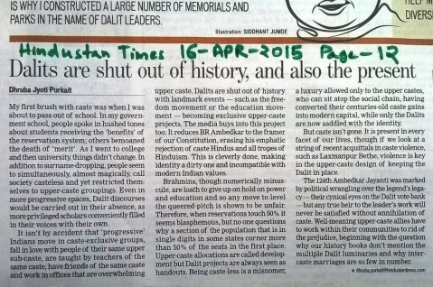 HT dalit shut out of history