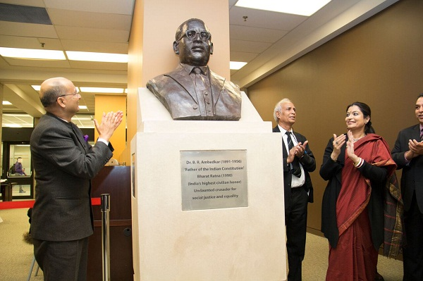ambedkar statue in york university canada
