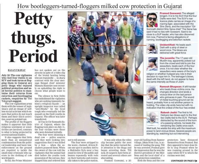 telegraph gujrat dalit kand